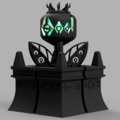 Flower_v1.png Download free STL file Space zombies Dragon flower • 3D printing design, Azathot57