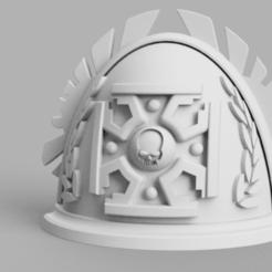 Goodpauldronblank_v3.png Download free STL file Old school elite pauldron • 3D printer template, Azathot57