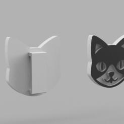 catbuckle_v2.png Download free STL file Kitty belt buckle • 3D print template, Azathot57