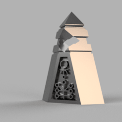 Stone.png Download free STL file Space zombies Cursing stone • 3D printable template, Azathot57