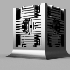 Cube_v2.png Download free STL file Space zombies Holocron • 3D printable template, Azathot57