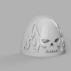 Shoulder_Padskull_v3.png Télécharger fichier STL gratuit Les épaulettes des damnés • Modèle imprimable en 3D, Azathot57