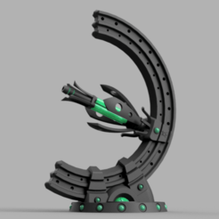 gauss_v10.png Download free STL file Space zombies Unsupportive turret • 3D printable model, Azathot57