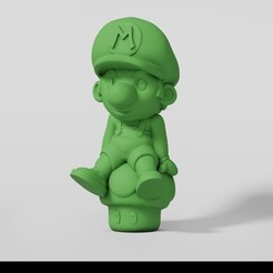 Mario.jpg Download STL file Mario • Model to 3D print, Sayvision