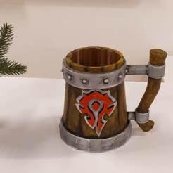 IMG_20191219_183722.jpg Download STL file Horde Mug holder • 3D printing object, taherart