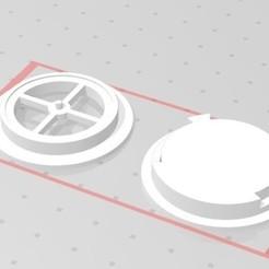 Descargar modelos 3D Valvula de exhalacion clasica N95, FLEXIPLEX