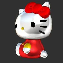 Download free STL file Hello Kitty , darylljavier