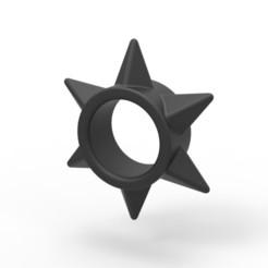 Download STL Shuriken cock ring 2, AdultPrint