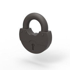 Download 3D printer files Padlock cock ring, AdultPrint