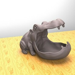 hippo.152.jpg Download STL file Hippo Container • 3D print object, dam3ds100
