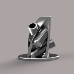 PEN HOLDER 1.png Download STL file PEN HOLDER • 3D print design, MAKEITLIKEABOSSINCO