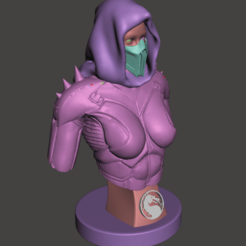 Download free OBJ file Mortal kombat girl bust • 3D printable template, mizke