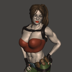 TR04.png Download free OBJ file Tomb raider muscle • 3D printer design, mizke