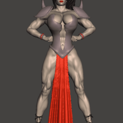 Download free STL file Muscle woman  (low poly) • 3D printing model, mizke