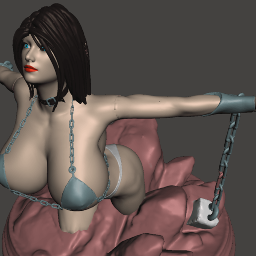 Download free OBJ file chained girl • 3D printable object, mizke