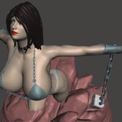 Descargar modelo 3D gratis niña encadenada, mizke
