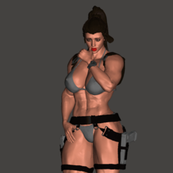 TRM_2.png Download free OBJ file Lara Croft • 3D printer design, mizke
