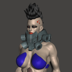 Download free OBJ file Cyberpunk girl • Design to 3D print, mizke