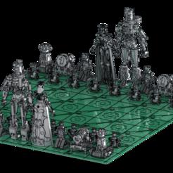 chess board.png Download STL file STEAMPUNK CHESS • 3D printing model, fdvrfdvr