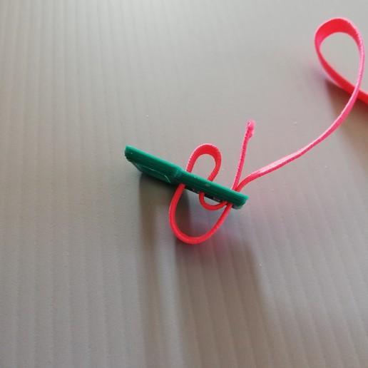 Télécharger objet 3D gratuit Clip de réglage d'élastique 4mm pour visière croco (COVID19), Kreen