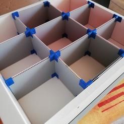 Imprimir en 3D gratis Soportes y tiradores para el organizador del cajón de la cocina, Kreen