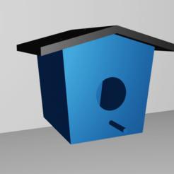 birdbox2.png Télécharger fichier STL Nichoir pour oiseaux • Modèle pour impression 3D, 3dessaim