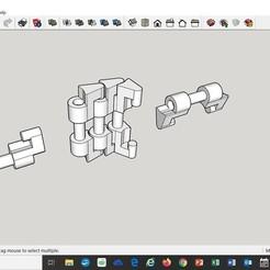 Download 3D printer designs Caterpillar chain (compatible with FischerTechnik gears), Sketchup-master