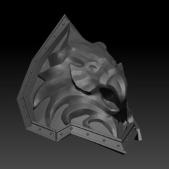 Descargar archivos 3D World of Warcraft Varian Wrynn Lion Shoulder Pauldron 3D Imprimible.STL File, ShepherdCreations