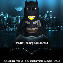 the batminion.jpg Télécharger fichier STL Fichier imprimable de mini figurine Batman Minion Minion .STL • Modèle à imprimer en 3D, ShepherdCreations