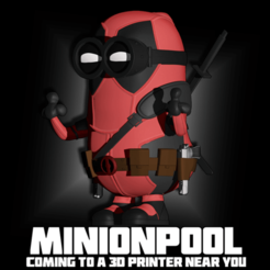 5.png Télécharger fichier STL Deadpool Minion Minion Mini figure imprimable fichier.STL • Plan pour impression 3D, ShepherdCreations