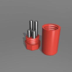 BatteryCase_v2.png Download free STL file Pin Type Lithium Battery case LED Fishing Floats Bobber CR435 CR425 • 3D printing design, tomykijima