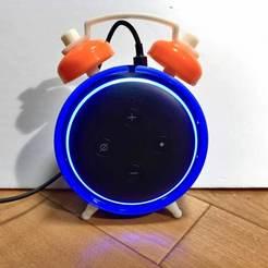 IMG_9094.JPG Download free STL file Amazon Echo dot 3rd  Alarm clock style • 3D printer template, tomykijima