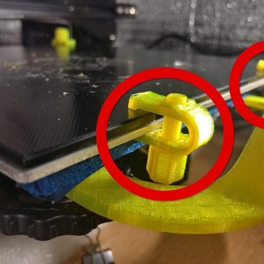 Descargar diseños 3D gratis Clip para cama de vidrio de 4mm, tomykijima