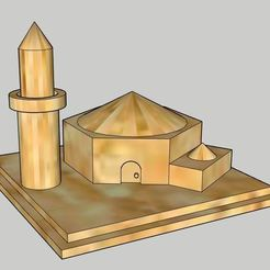 Download free 3D printing models Mosque , vodvol