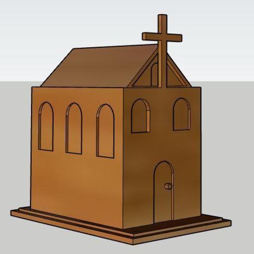 Download free STL file Church  • 3D printing object, SinanAydemir