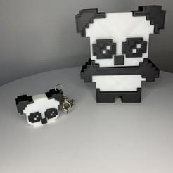 Download OBJ file Panda & Keychains • 3D printable template, Ultipression3D