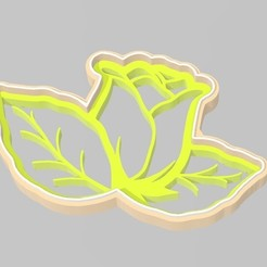 Download 3D printing templates cookie cutter rose, MagicCreator