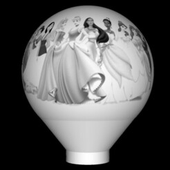 imagen.jpg Download STL file Beautiful lithophane princess lamps • 3D print design, Art-Maker