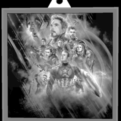 Descargar Modelos 3D para imprimir gratis Avengers Keychan lithophane, MagicCreator