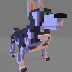 Download 3D printing templates wolf pixel, diablo3d