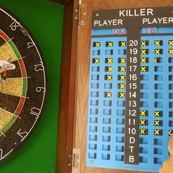 Download STL Darts Killer Scoreboard, 3D-Unique