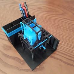 20191116_100653.jpg Télécharger fichier STL Porte-stylo avec réservoir de mélange ou trémie • Modèle à imprimer en 3D, 3D-Unique
