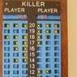 Download 3D printer model Darts Scoreboards Killer & 301, 3D-Unique