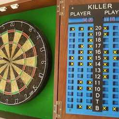 Download 3D printer model Darts Scoreboards Killer & 301, 3D-Unique