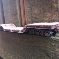 IMG_20200823_111600.jpg Download STL file on3 on30 heavy duty lowloader train flatcar railway wagon model • Design to 3D print, bgoth