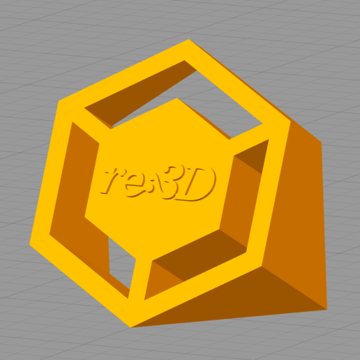 Download free 3D printing templates re:3D 3D Logo, re3D