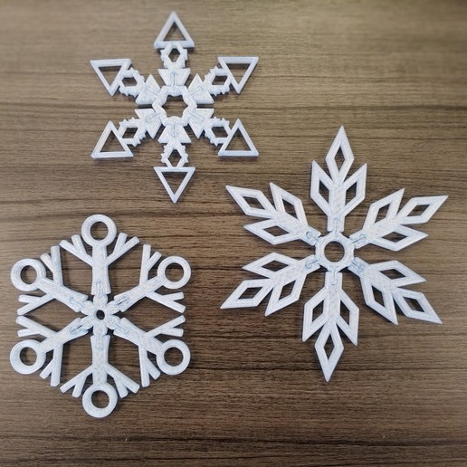 Download free 3D model Build your own Snowflake!, re3D