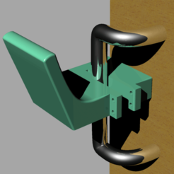 Download free 3D printing files Hands-Free door pull attachment for cylindrical door pulls, re3D