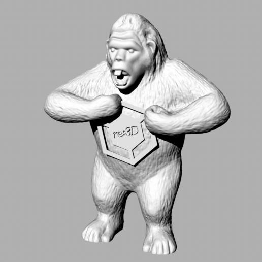 Download free 3D printing designs Gigi the Gorilla, re3D