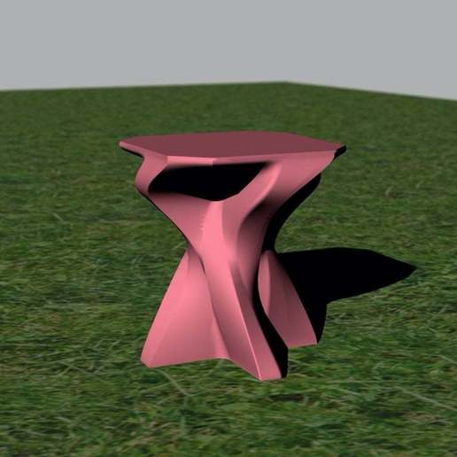Download free 3D printing templates Concrete Side Table, re3D